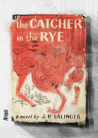 Vintage edition of The Catcher in the Rye by J.D. Salinger. Digital painting by Aphrodite Delaguiado.